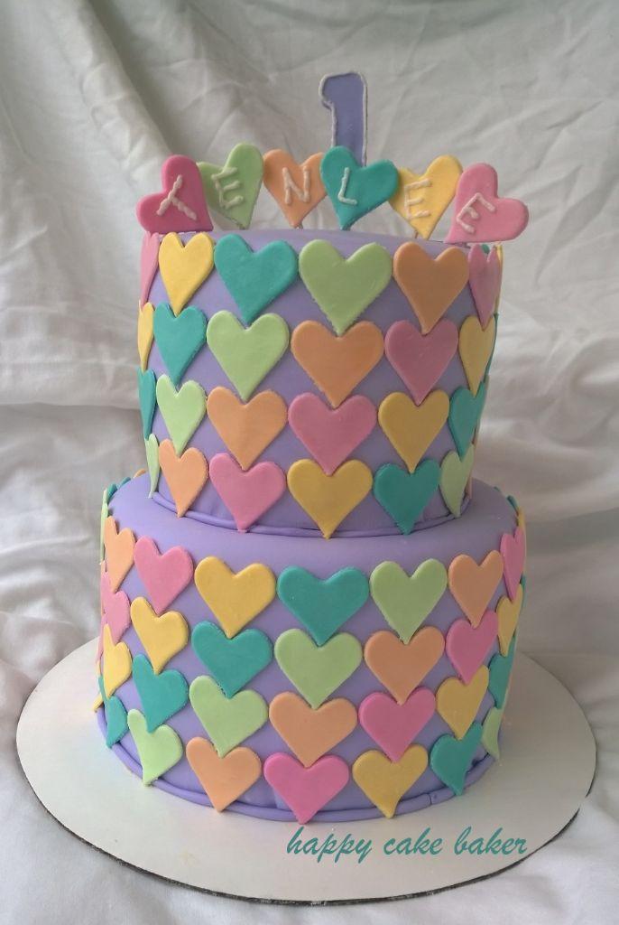 2 Tier Birthday Cake Happy Cake Baker
