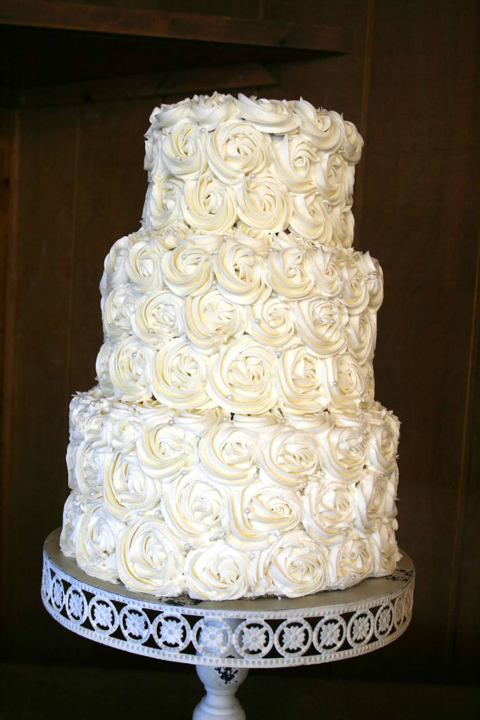 Elegant Wedding Cake Not Fondant