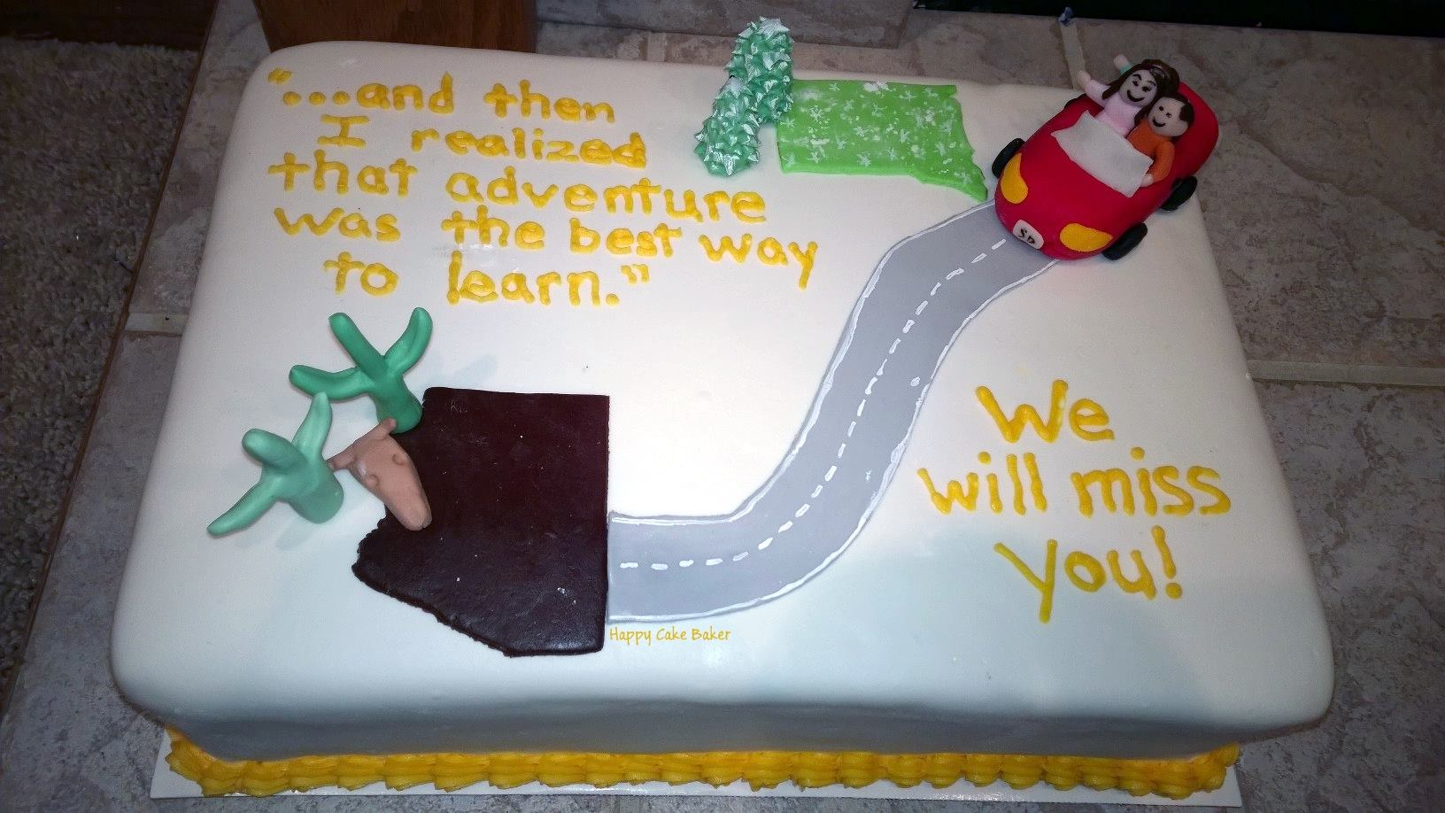 Going Away Happy Cake Baker
