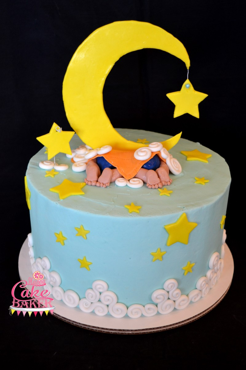 Moon Amp Stars Twins Happy Cake Baker