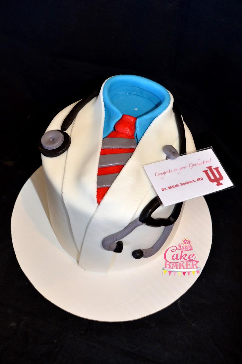 Doctors Uniform Fondant Cake
