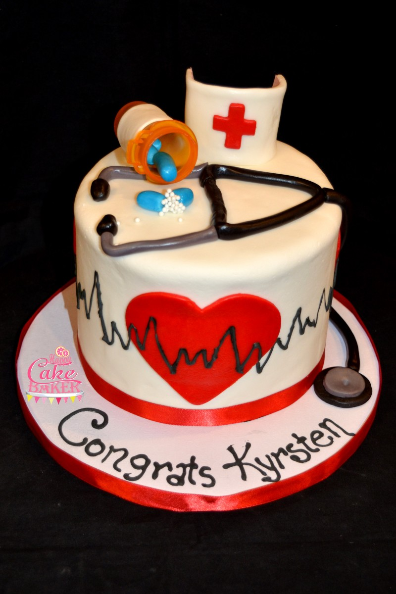Nurse Grad Happy Cake Baker