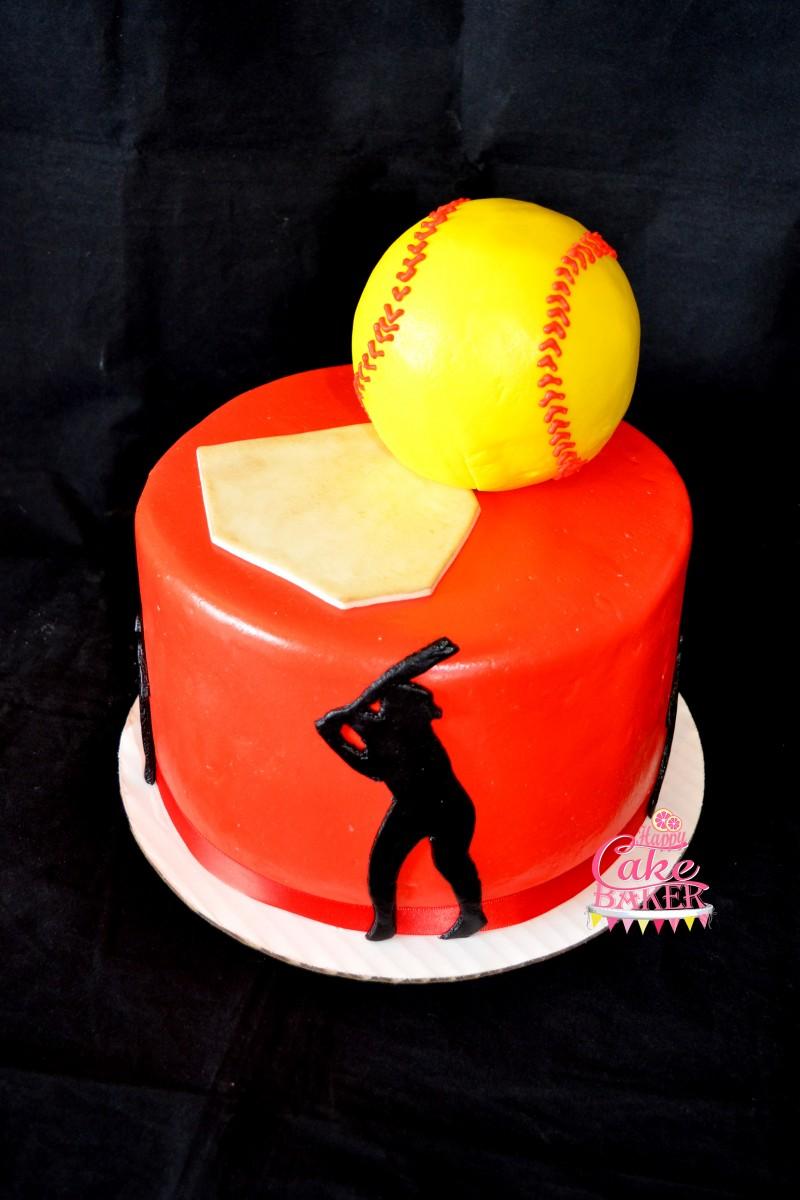 Softball Party Happy Cake Baker