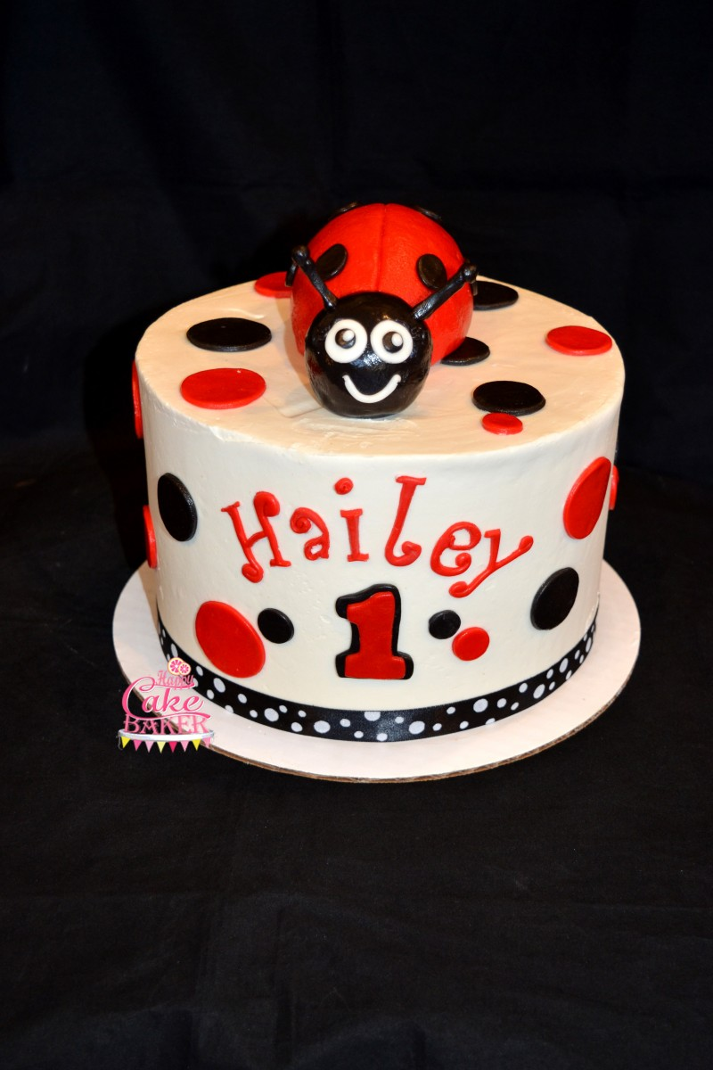 Lady Bug Birthday Happy Cake Baker